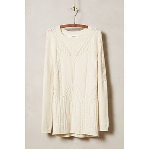 Anthropologie Sparrow Cablerun Tunic Sweater